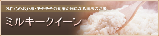 乳白色のお姫様・モチモチの食感が癖になる魔法のお米 ミルキークイーン